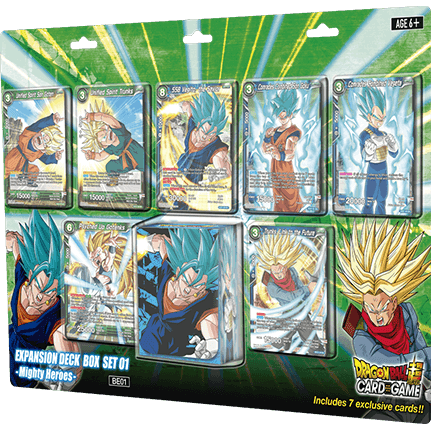 Dragon Ball Super Card Game: Expansion Deck Box Set Mighty Heroes BE01