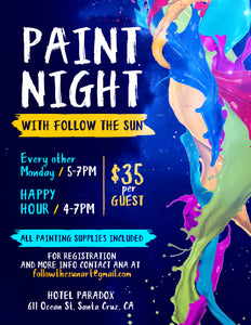 Paint Night Schedule! January - March 2019