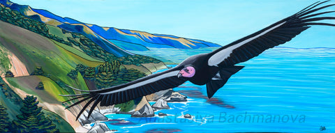 california condor painting, art and conservation
