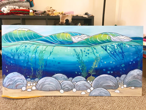 fore the waves painting progress