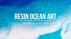 resin ocean art waves online video tutorial