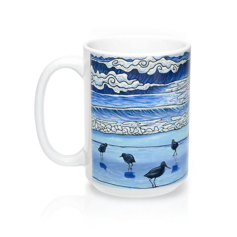 shorebirds mug follow the sun art