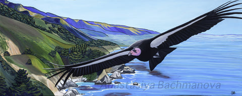 California Condor Painting Follow the Sun Art