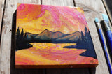 Sunset Reflections Original Acrylic Painting