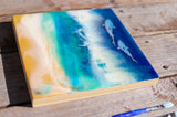 Cruising Sharks Original Resin Painting