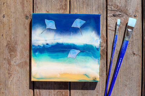 sting ray resin ocean art