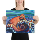 Inky Octopus Canvas Print