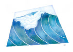 surf art, wave watercolor painting follow the sun art