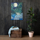 Moonlight Toad Canvas Print