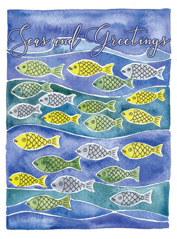 fish ocean holiday christmas card