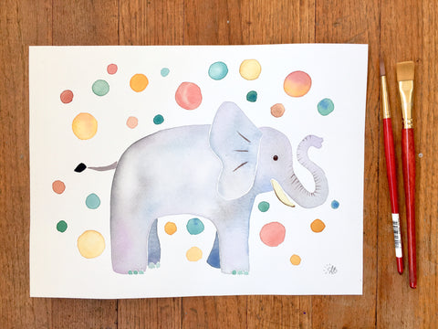 elephant art kids room