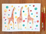 childrens illustration giraffe art