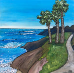 pleasure point surf, santa cruz california painting