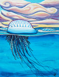 Portuguese man o war original acrylic painting