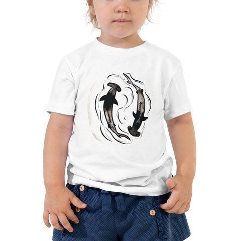 hammerhead shark kids t shirt, follow the sun art, surf style fashion