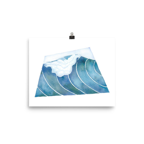 watercolor surf art print, anastasiya bachmanova