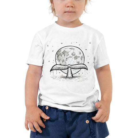 whale and moon kids tshirt