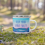 salty spirit surfer camp mug