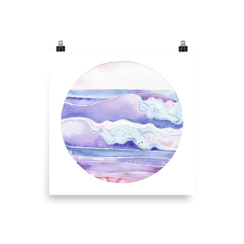 watercolor ocean wave surf art print, anastasiya bachmanova