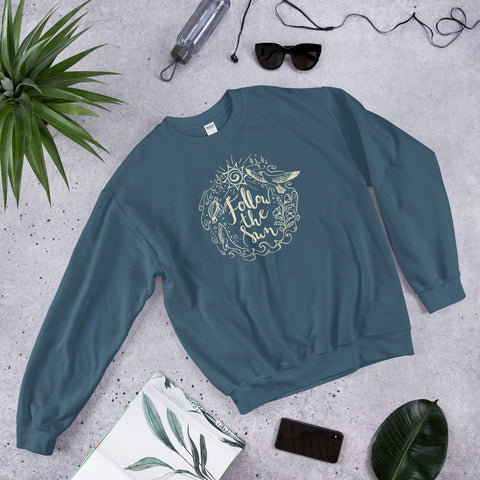 follow the sun art womens sweatshirt