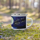 stay wild moon child watercolor camp mug