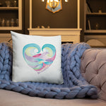 Ocean Heart Pillow