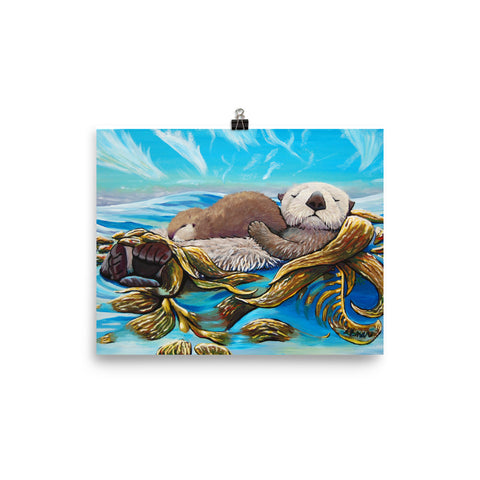 Sea Otter Mom & Pup Print