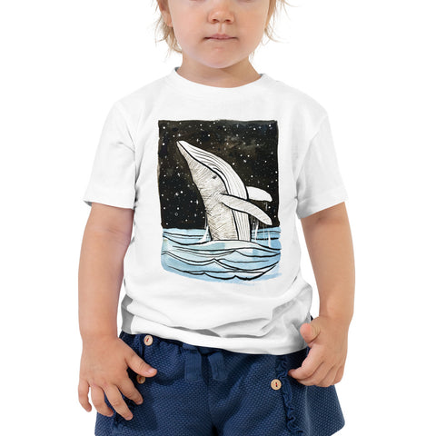 breaching whale toddler t shirt