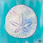 sand dollar sea shell beach house original painting