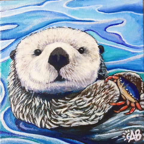 Sea otter painting Follow the Sun Art
