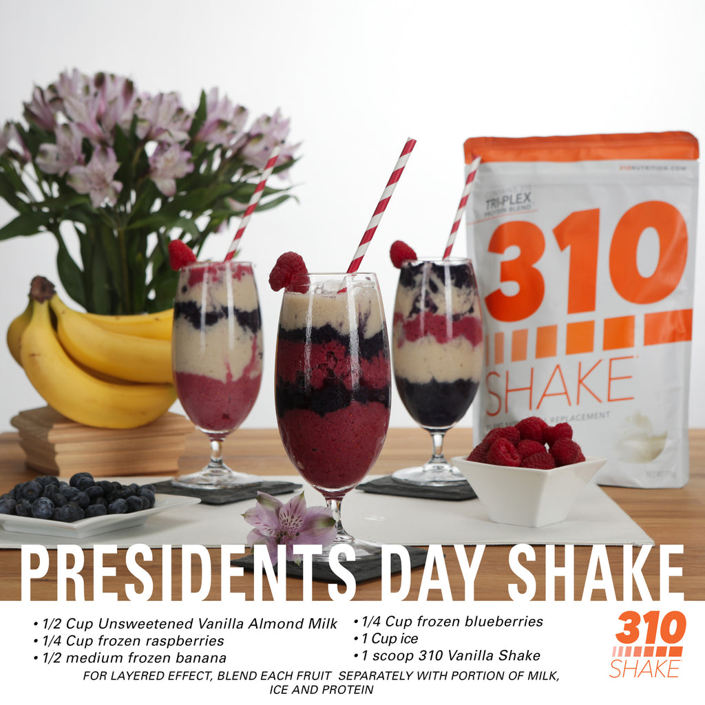 Raise Your Glass for This Red, White & Blue Presidents Day Shake!