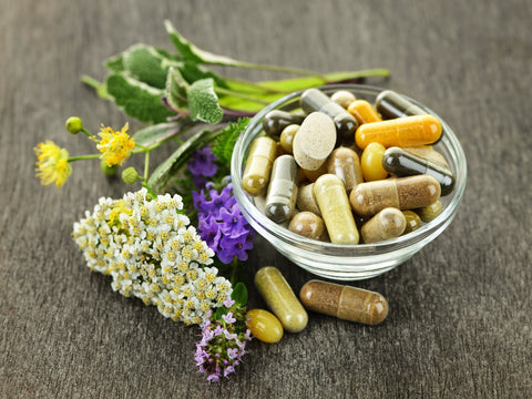 Beauty supplements include nutrients like biotin and zinc and collagen protein for a healthy appearance.