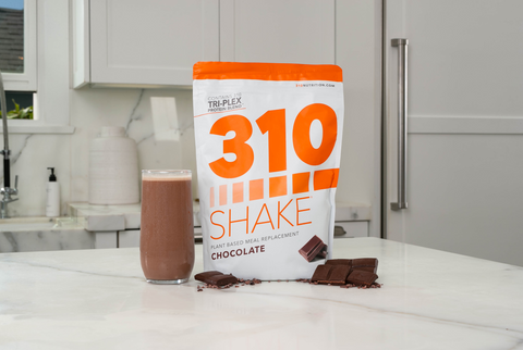 310 chocolate shake on counter