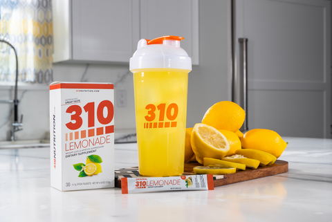 310 lemonades on white kitchen counter