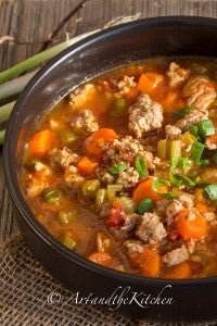 artandthekitchen.com - Italian-Turkey-Burger-Soup