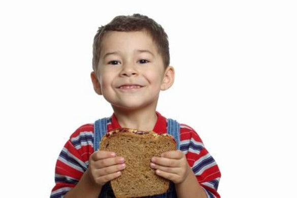 Kid with Peanut Butter Sandwich