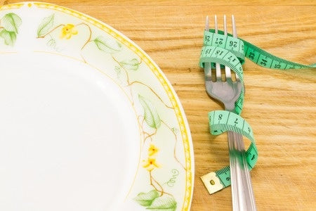 measuring tape food fork plate