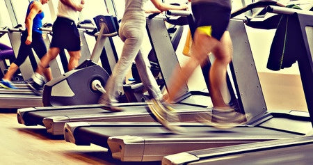 running treadmills at the gym