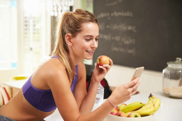 Woman Eating After Gym