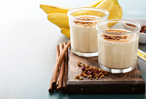 maple almond banana smoothie