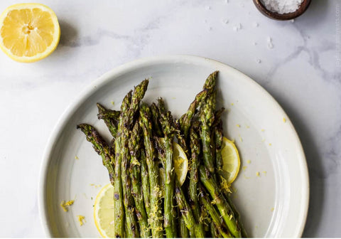 grilled asparagus with lemon zest