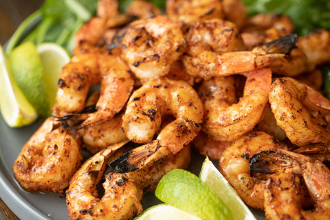 grilled shrimp with lime
