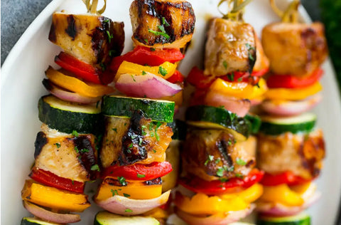 grilled chicken kabob skewers