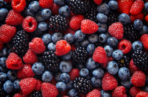 Healthy mixed berries fruit