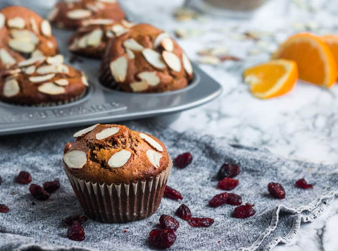 Paleo Orange Cranberry Muffins