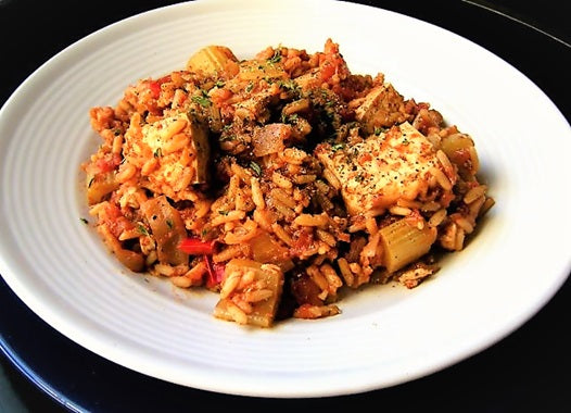 Healthy Vegetarian Red Jambalaya