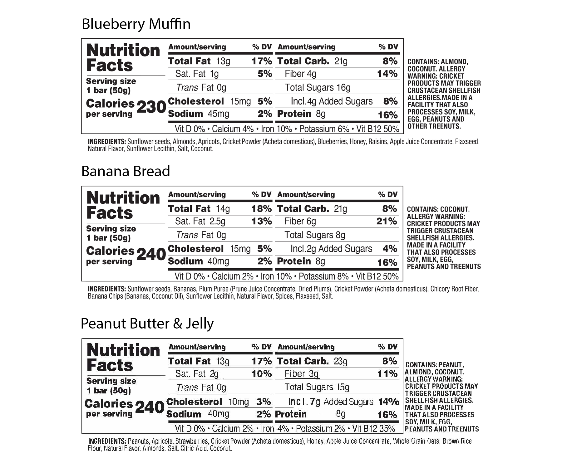 Energy Bar Variety Box (12 Count) - Energy Bar Variety Box (12 Count)