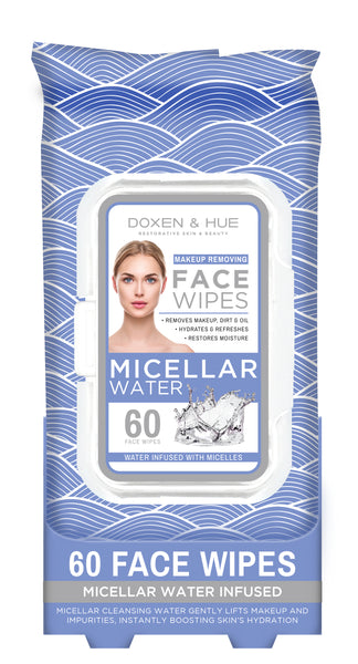 Doxen & Hue Micellar Water Makeup Removing Wipes