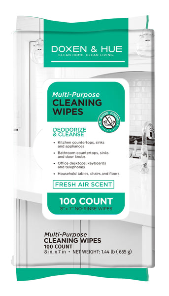 Doxen and Hue 100 CT Multi-purpose Cleaning Wipe