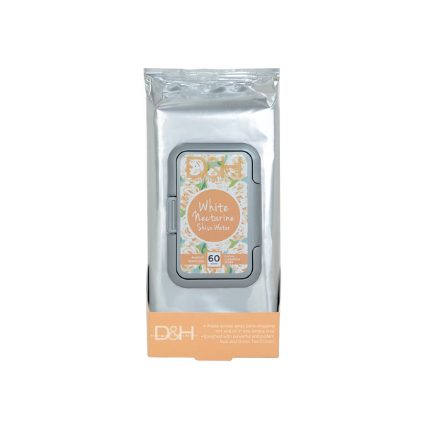 Doxen & Hue Facial Cleansing Wipes, White Nectarine & Shisho Water